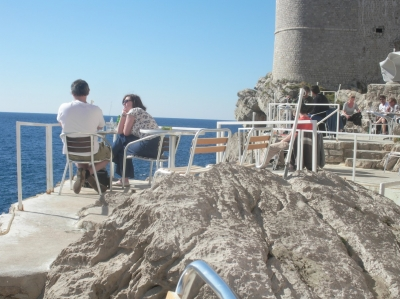 Secret Cafe in Dubrovnik - refreshingly free of crowds!