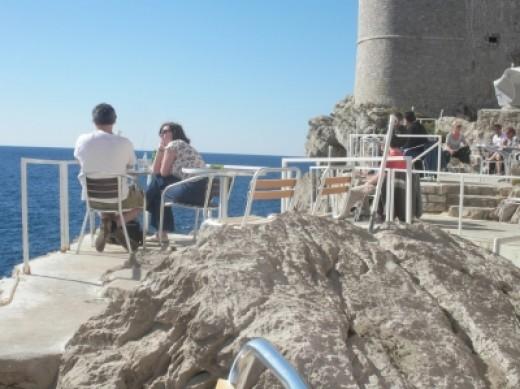 Secret Cafe in Dubrovnik - refreshingly free of crowds!