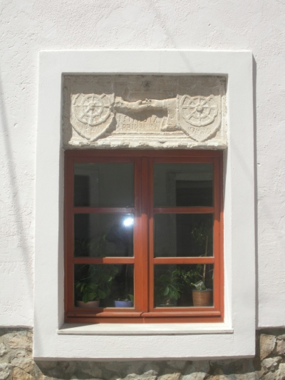 An old window frame in Nin