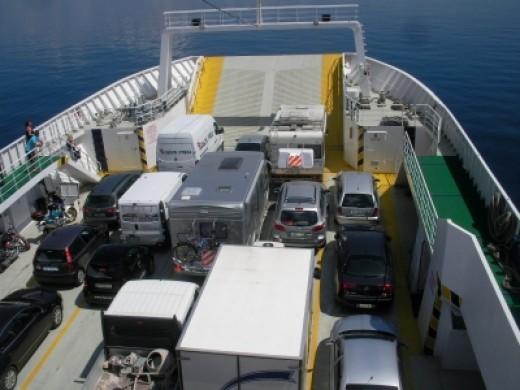 Vehicle deck on Jadrolinija