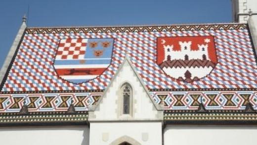 The colourful tiles of St Mark's Church