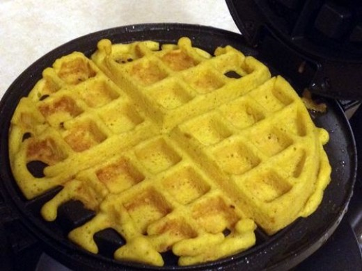 Cook the cornbread batter for allotted time, depending upon your specific waffle maker.