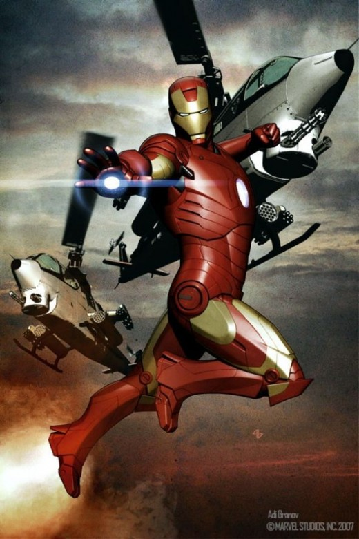 gorgeous Adi Granov concept art for Iron Man 2