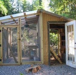Chicken Coop And Greenhouse Construction Dengarden
