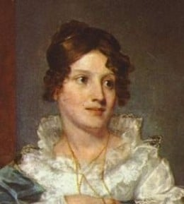 Young woman in 1830, painted by Samuel Morse