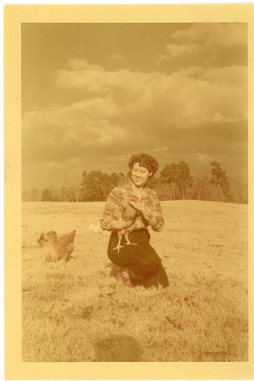 Mom and the Chickens