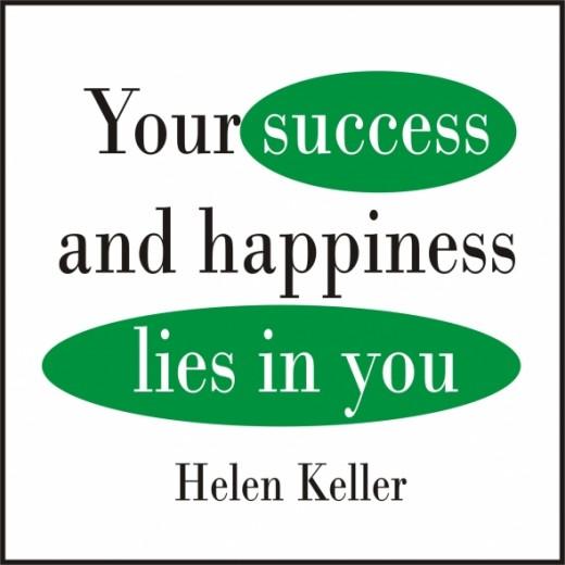 helen keller quote on happiness