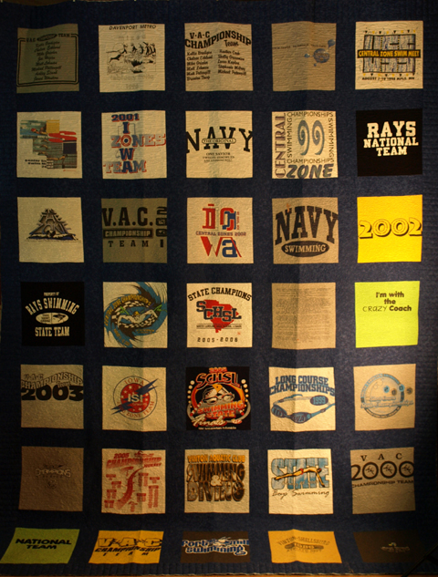 a quilt from t-shirts