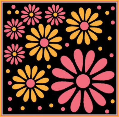 Digital Floral Art Created With Photoshop Flower Brush