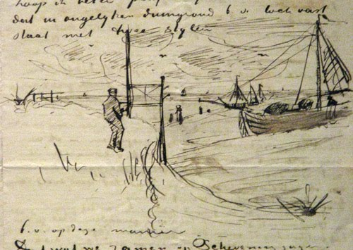 Sketch from van Gogh's notes