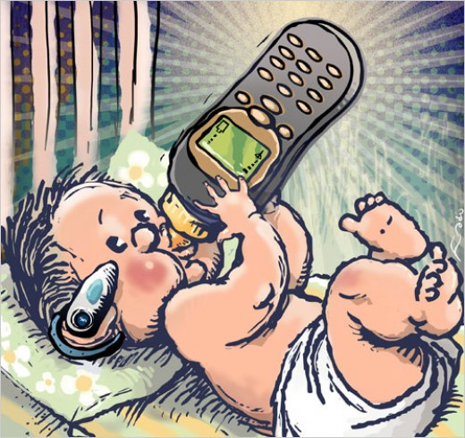 Cell Companies Are Marketing To Younger and Younger Children and Parents Allow