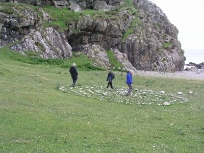 Walking the Labyrinth on St. Columba Bay, Iona