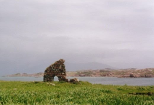 Standing on Iona Looking to Mull