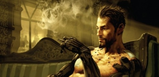 Adam Jensen smoking a cigar. I guess in the future, lung cancer isn't a concern.