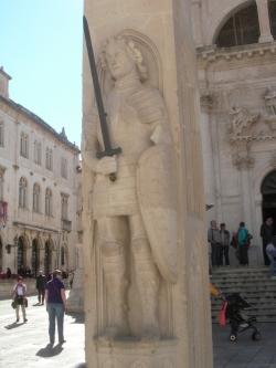 Dubrovnik landmark Orlando column