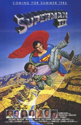 The lack of villain and presence of a comedian on the poster for Superman III was evidence enough that this film series was spiraling out of control.