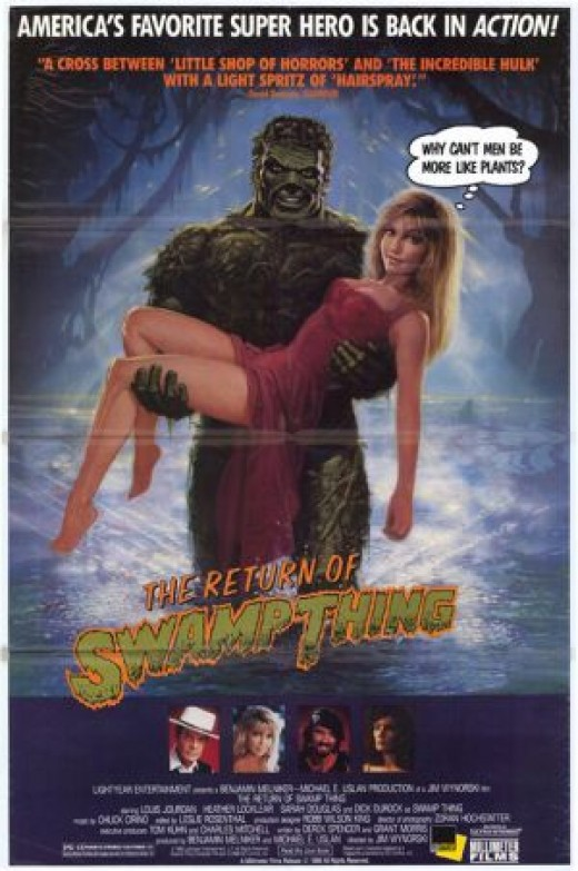The second Swamp-Thing film was also suppose to be a comedy. You can tell how funny it was by this poster.