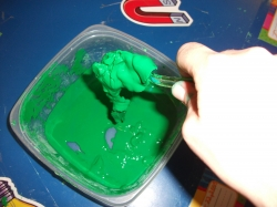 Thick Slime Made with Cornstarch