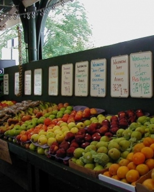 Fruit at the French Market in New Orleans.