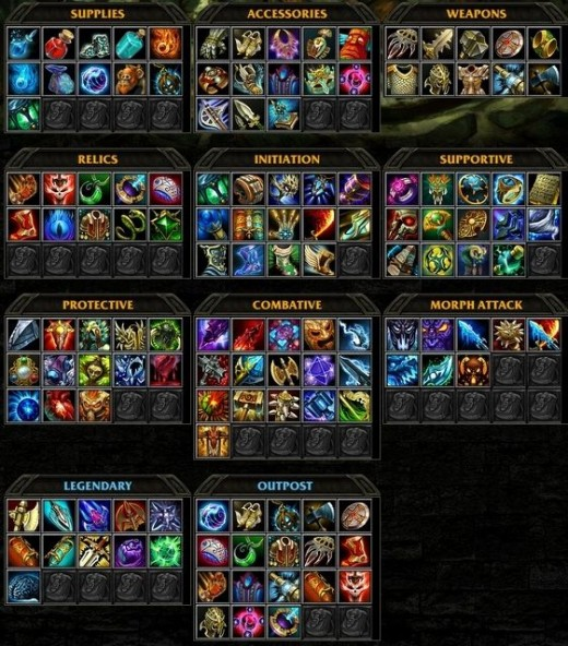 HoN Guide Items