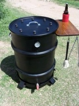 Cowgirls Homemade Smoker