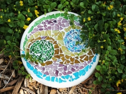 Stained Glass Cobbles Stepping Stone