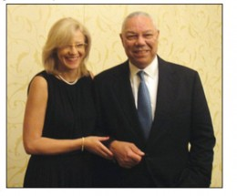 The rumor about an affair between Powell & Cretu was started by the hacker and was fueled by photographs like this one taken at a government social.