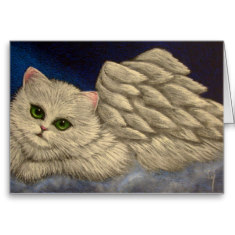 I simply love this WHITE PERSIAN ANGEL CAT HOLIDAY by BY_CYRA. It is so soft and majestic.