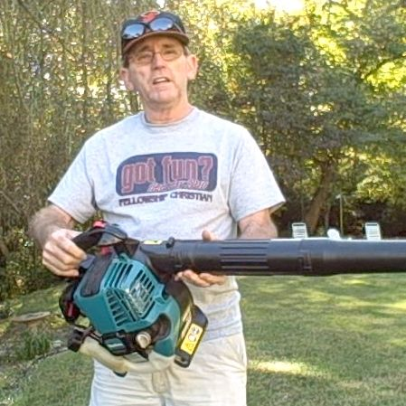 Me with my Makita Leaf Blower