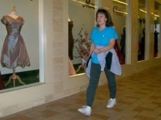 walking at mall