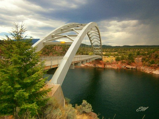 Cart Creek Bridge day trip ride to Flaming Gorge - August 2012