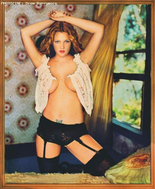 drew barrymore tied up