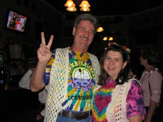 Hippie Costume with Tie Dye and Crochet Vests