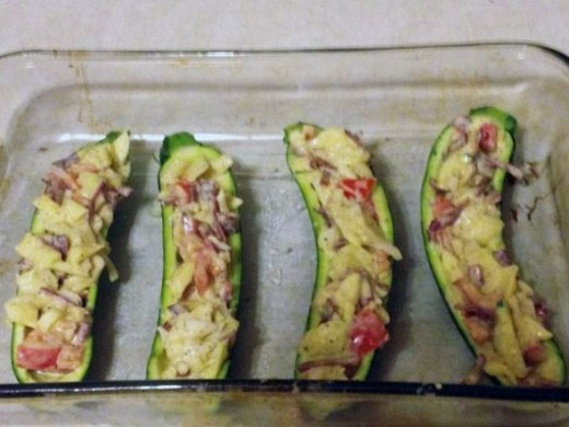 Stuff the Zucchini Boats