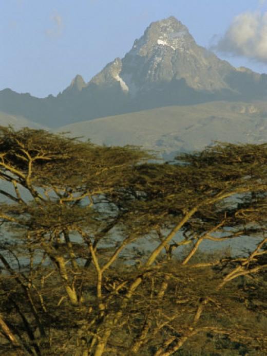 A View of Mount Kenya from Near Karatina