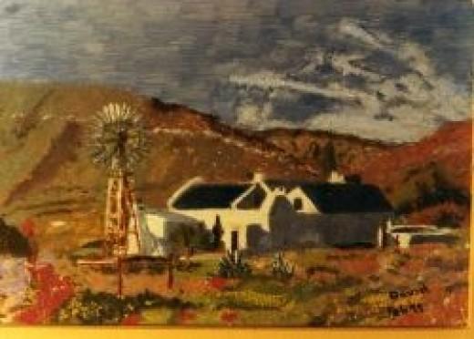 Farmhouse with Windmill
