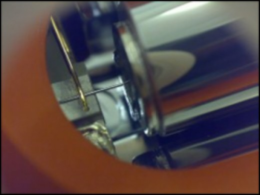 closeup of scanning tunneling microscope