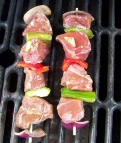 Grilled Meat on Skewers (Kebabs)