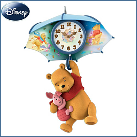 Pooh And Piglet Blustery Days Wall Clock