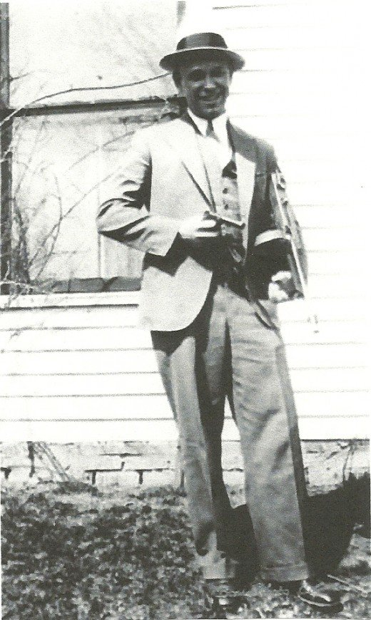 John Dillinger was on the run from law enforcement when he posed for this photograph at his family's farmland home in Mooresville, Ind., in the 1930s.