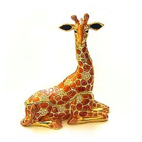 Resting Giraffe Figurine BOX Swarovski Crystals