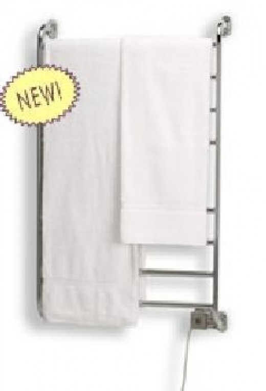 Warmrails Hardwire/Softwire Kensington Wall Mounted Towel Warmer and Drying Rack, Satin Nickel