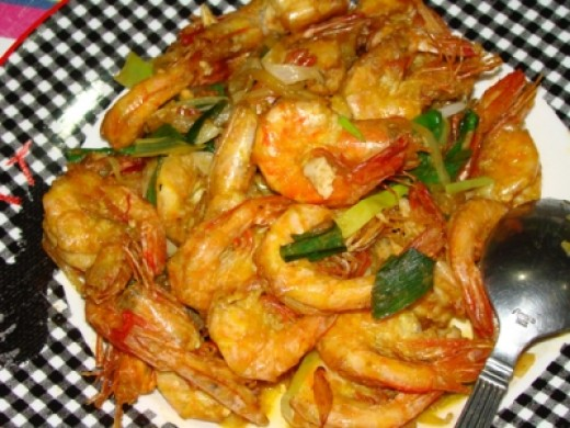 Salted Egg Fried Prawn Recipe