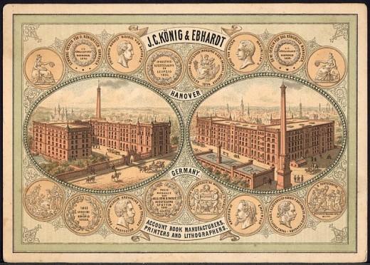 Printers Trade card - Germany, 1880.