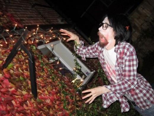 Alex as a zombie