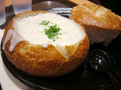 Chowder in a Sourdough Bowl