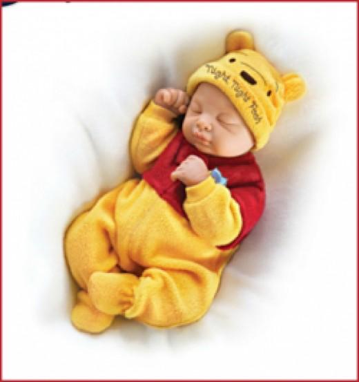 Bedtime Winnie the Pooh Baby Dolls