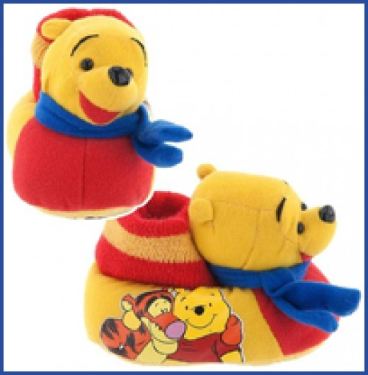 Winnie the Pooh Sock Top Slippers for Toddlers