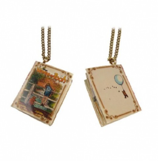 Winnie the Pooh Book Necklace