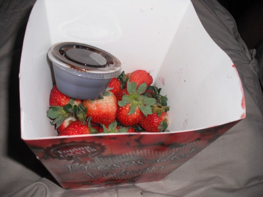 These were the strawberries we got from the little shacks selling them all over the countryside.